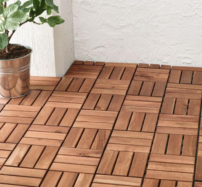 Zeer RUNNEN Vlonder, buiten, bruin gelazuurd | My Garden - Ikea deck IA17