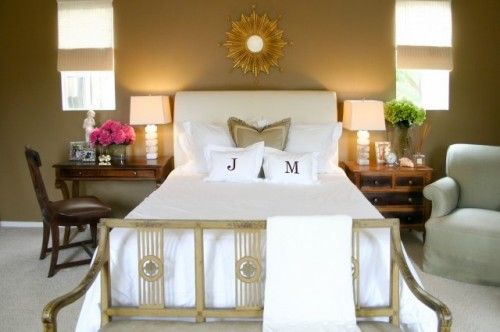 small master bedrooms.  love the idea of having a desk do double duty as a bedside table.
