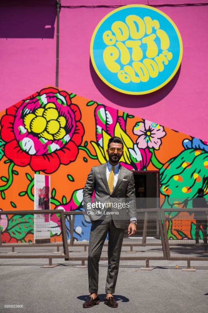 Melik Kan is seen during Pitti Immagine Uomo 92. at Fortezza Da Basso on June 13, 2017 in Florence, Italy.