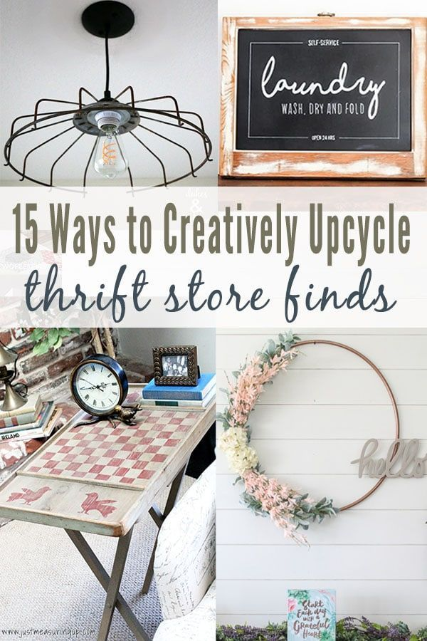 Thrift Store Makeovers #thriftstoreupcycledecor Need a fun DIY project? These easy thrift store makeovers are creative and fun. From home decor to furniture, these upcycled projects are sure to impress. #thriftstorefinds