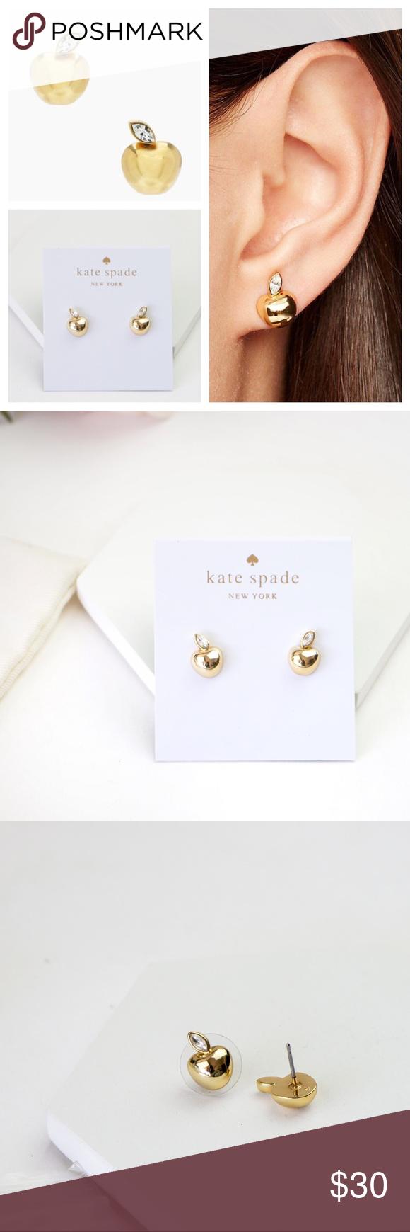 Stud earrings, Golden jewelry