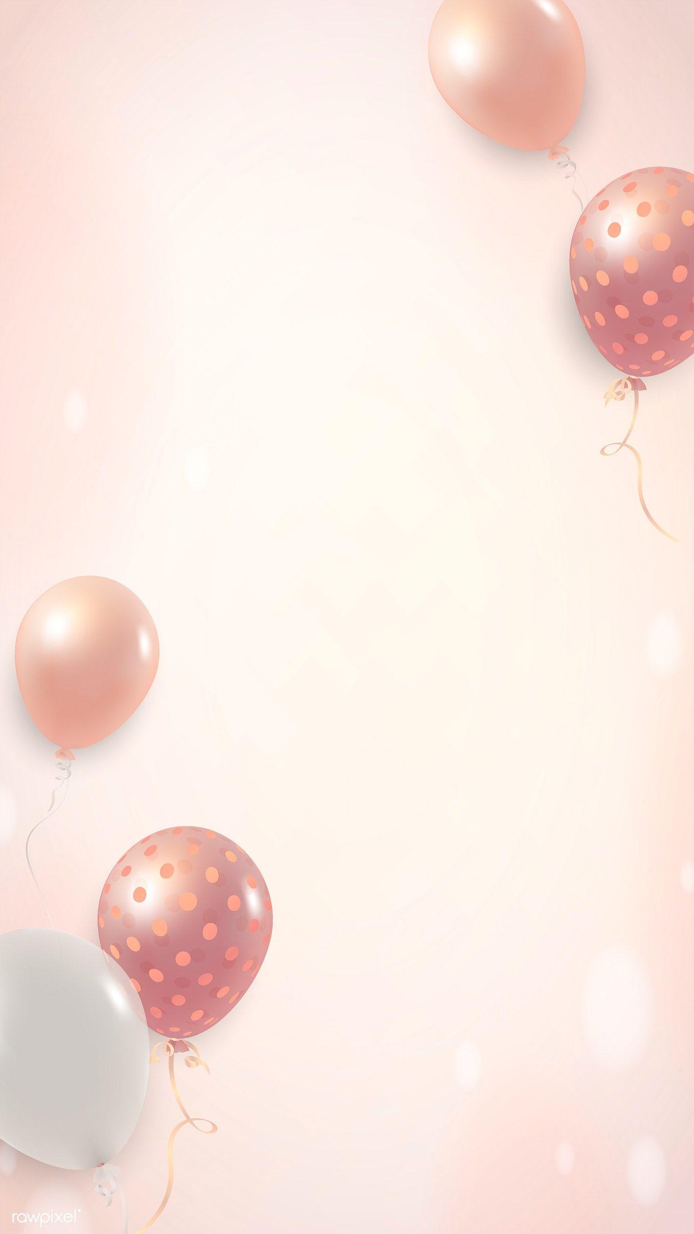 Download Premium Vector Of Elegant Balloon Phone Background Vector 2053638 Balloon Background Birthday Wallpaper Balloons
