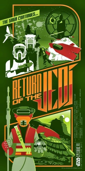 Cool Art: Return Of The Jedi by Mark Daniels