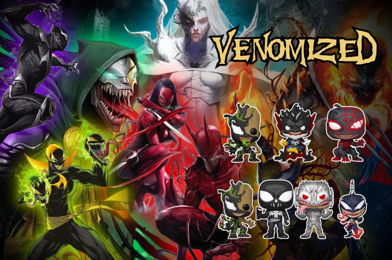 Venom El Simbionte Venomiza A Funko Arana De Spiderman Mystery Minis Villanos De Marvel