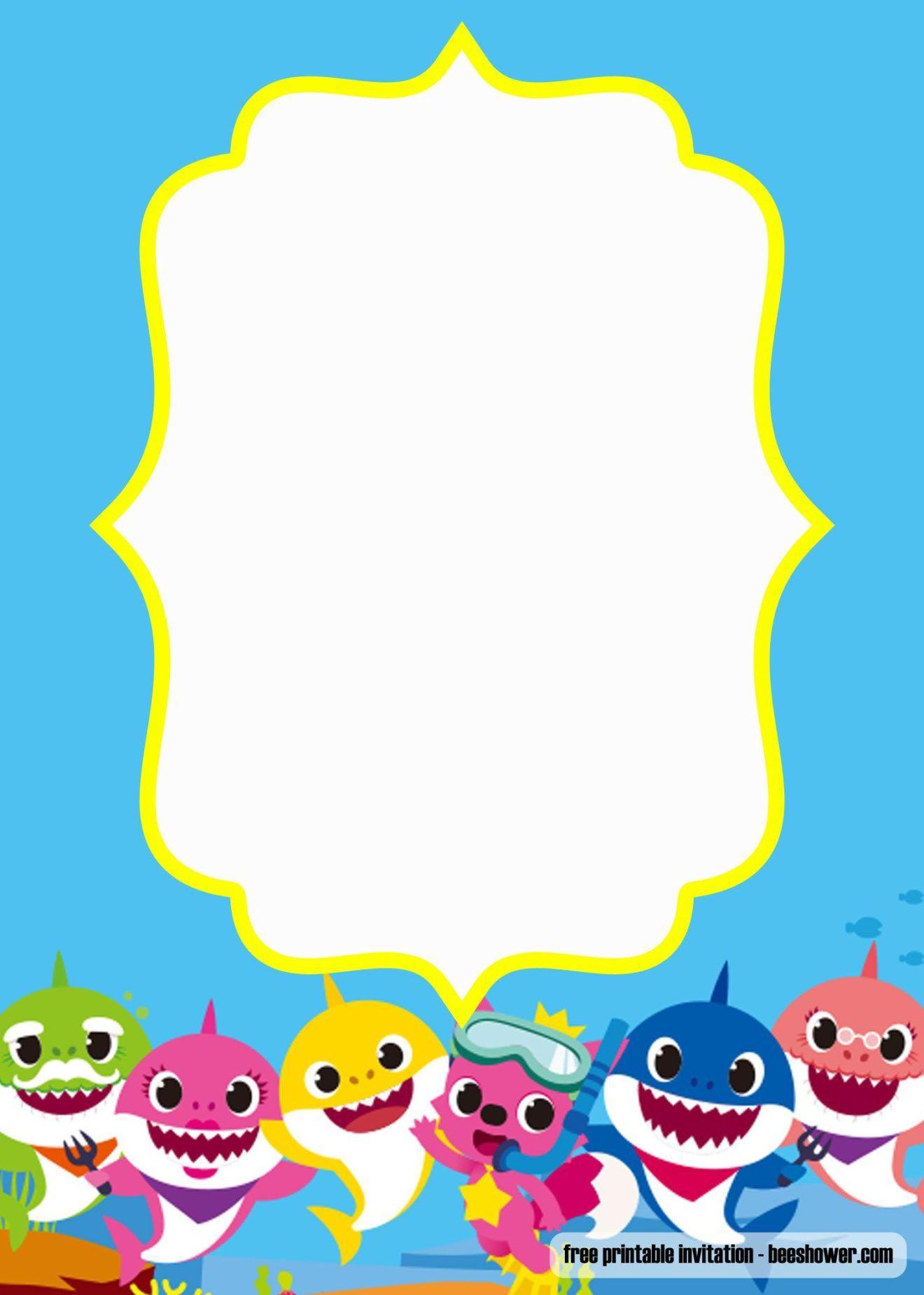 Convite Baby Shark Para Editar E Imprimir Grátis Mimo Kids