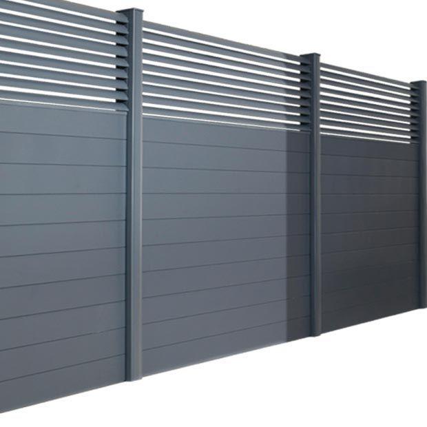 Pack poteaux en aluminium pour cl ture dolomite sicile ext rieur fence doors fence et for Barriere aluminium jardin