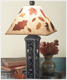 Dried Leaves Lampshade