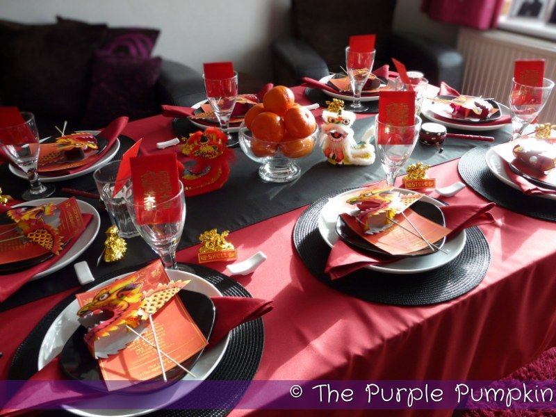 the table year of the dragon chinese banquet