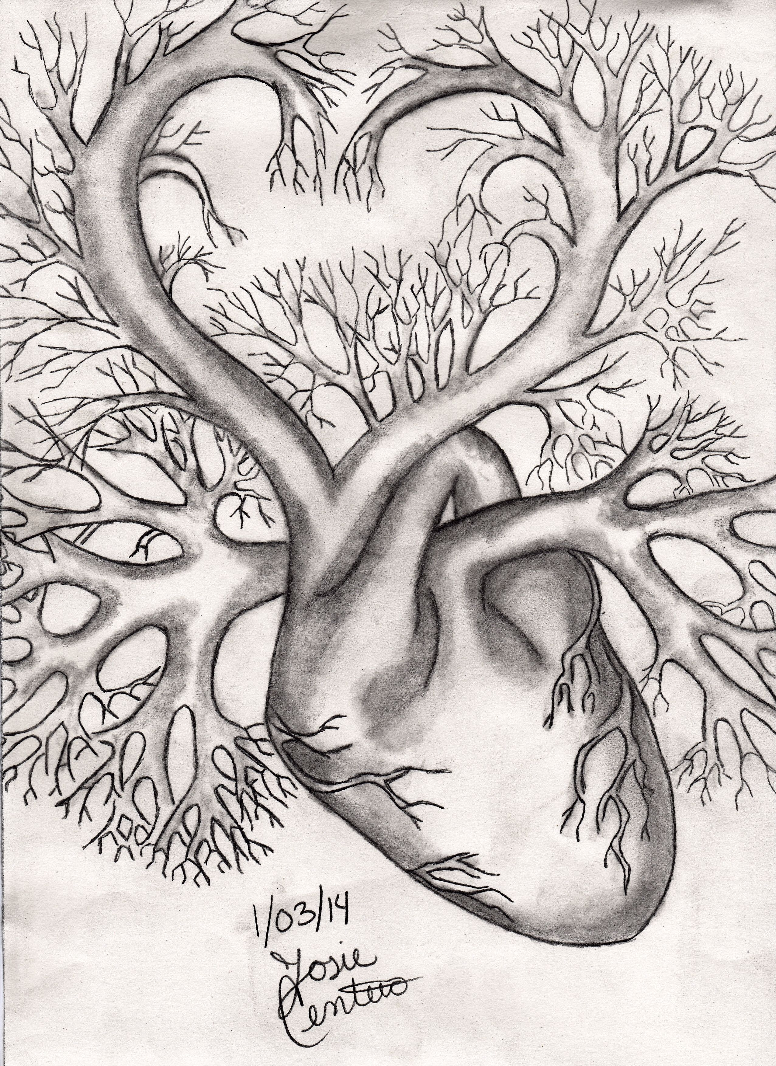 Matters Of The Heart Is Always Complicated Drawing Done By Me Josie C Pencildrawing Heart Art Inspiration Drawings Cool Art