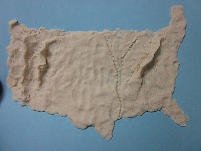 When studying about landforms, we create a salt dough ... on salt dough project california regions map, 3d landform project map, create your own island project map,