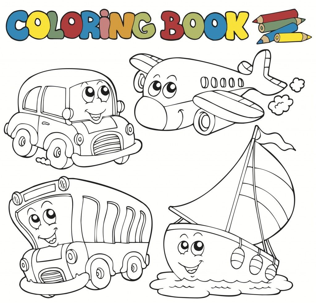 Transportation Coloring Pages For Kids It S A