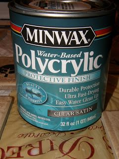 Use Minwax Water-based Polycrylic to protect vinyl on tile