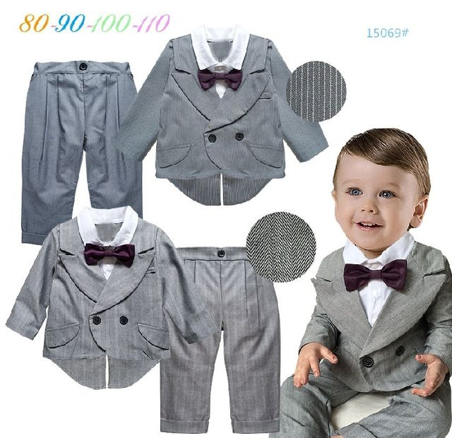 Special price Baby boy birthday dress coat+pants back to school ...