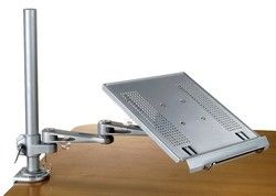laptop keyboard tray combo articulated arm and tray for clampon