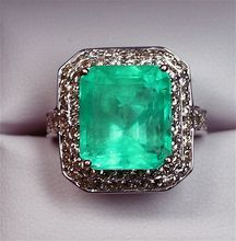 Extraordinary Estate 12.68 Carat Columbian Emerald and Diamond Ring