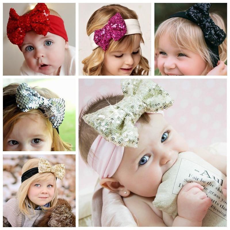 Women Child Bandeau Hairband 10pcs Elastic Kids Girls lot Baby Nylon Headband