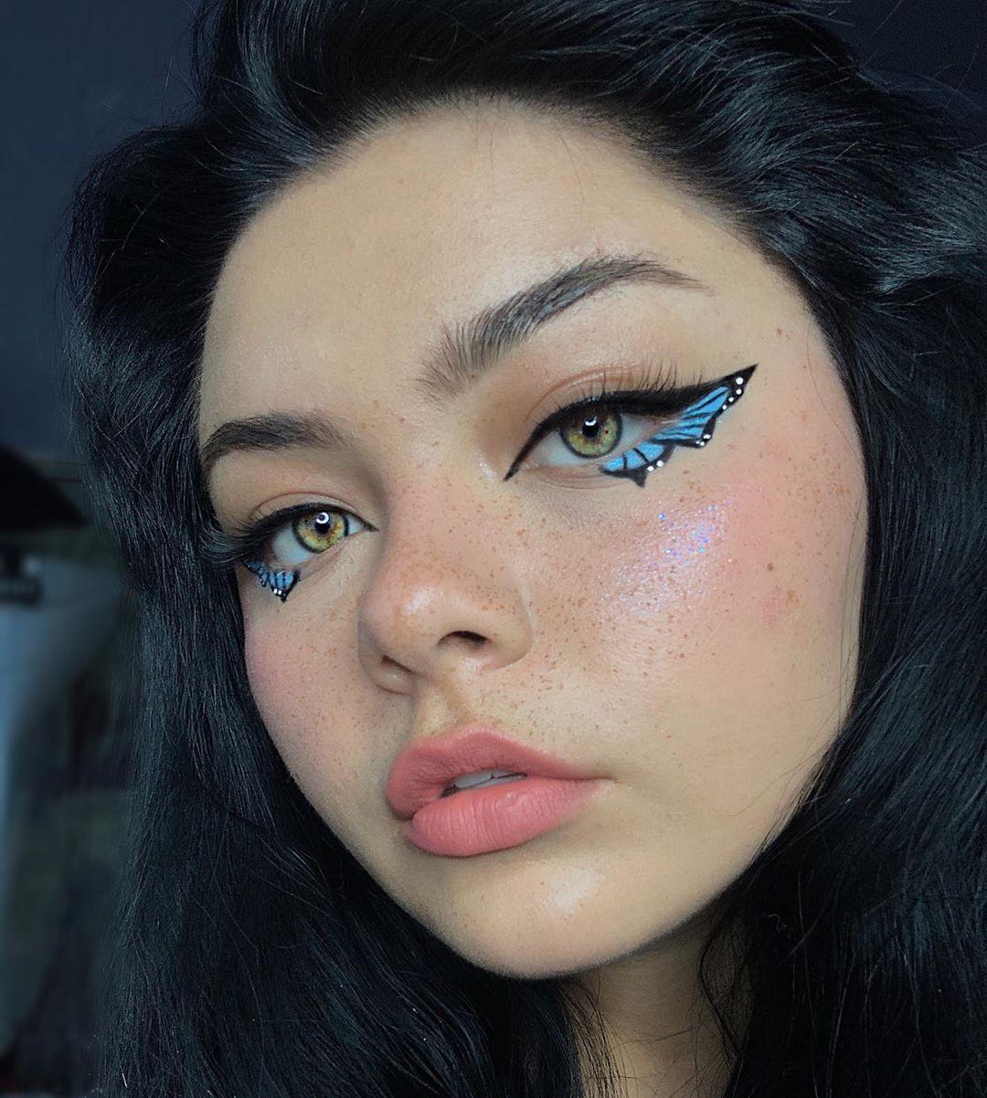 1 482 Me Gusta 26 Comentarios Makeup Artist Contrashelby En Instagram Recreation Of Nicoshoemaker S Butterfly Makeup Creative Eye Makeup Edgy Makeup