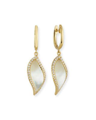 Frederic Sage Luna Yellow Mother-of-Pearl Earrings with Diamonds in 18K White Gold baZ5LEsOZ