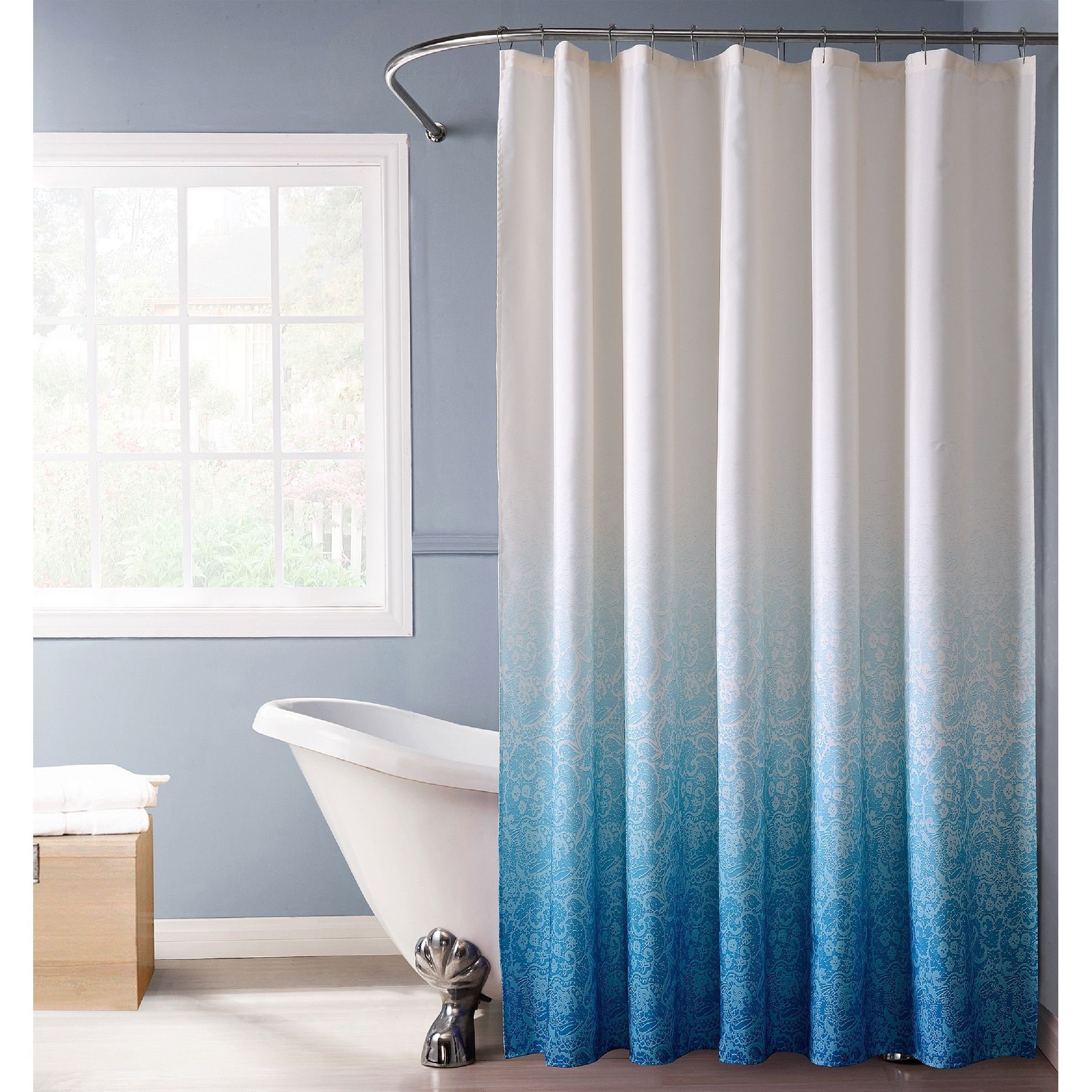 Shop lace ombre shower curtain showercurtain bathroom interior