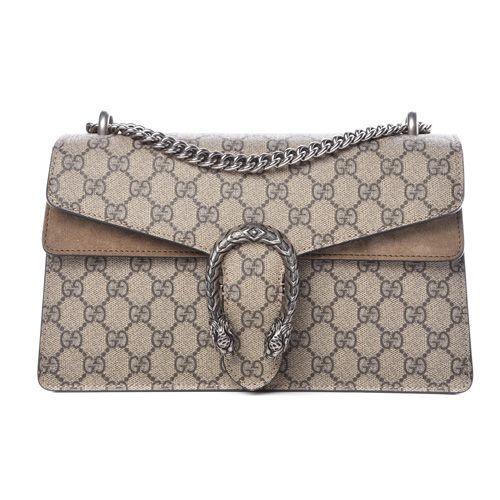 GUCCI GG Supreme Monogram Small Dionysus Shoulder Bag