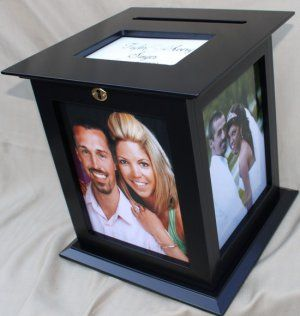 Black 8 x 10 Picture Frame Wedding Card Box | wedding ideas ...