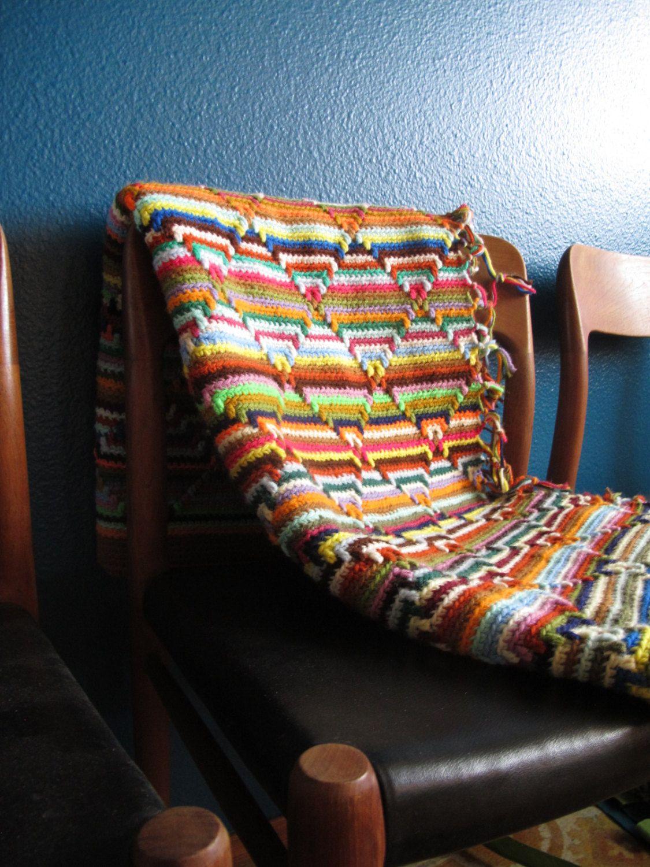 hold funky boho crochet throw vintage afghan bright striped multi  - funky boho crochet throw vintage afghan bright striped multi color blanketretro 's psychadelic throw paul smith missoniesque