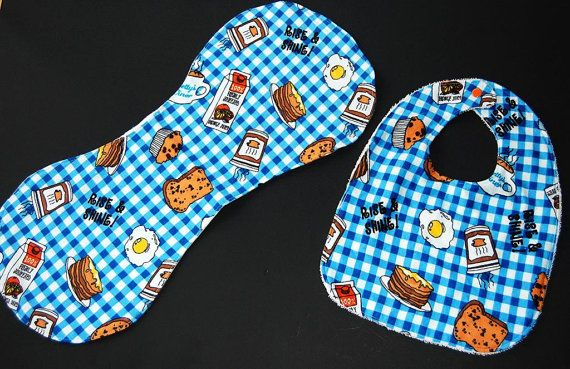 Hey, I found this really awesome Etsy listing at https://www.etsy.com/listing/169735177/rise-and-shine-bib-and-burp-cloth-set