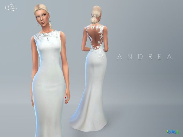 the sims resource: wedding dress andreastarlord • sims 4