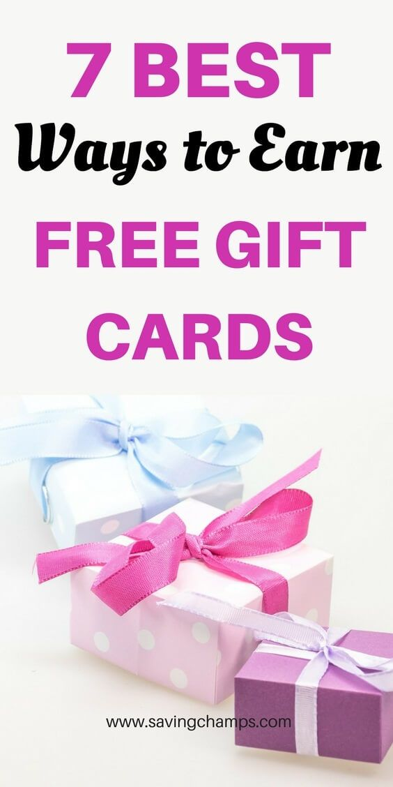 How to Earn Free Gift Cards My Top 7 Recommendations Free gift - make gift vouchers online free