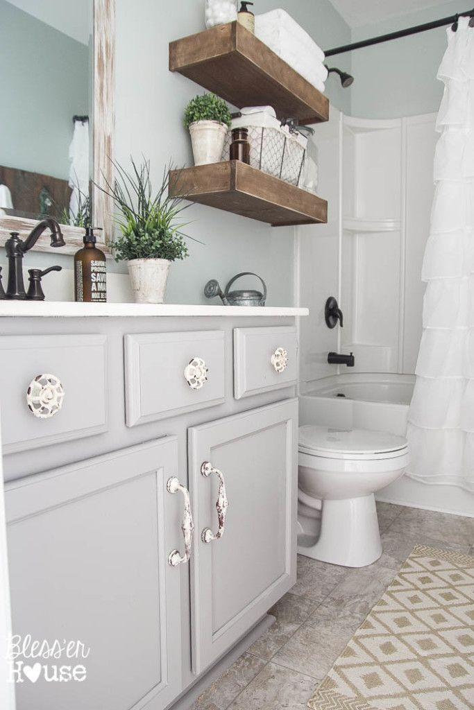 Modern farmhouse bathroom makeover blesser house so many great ideas to create