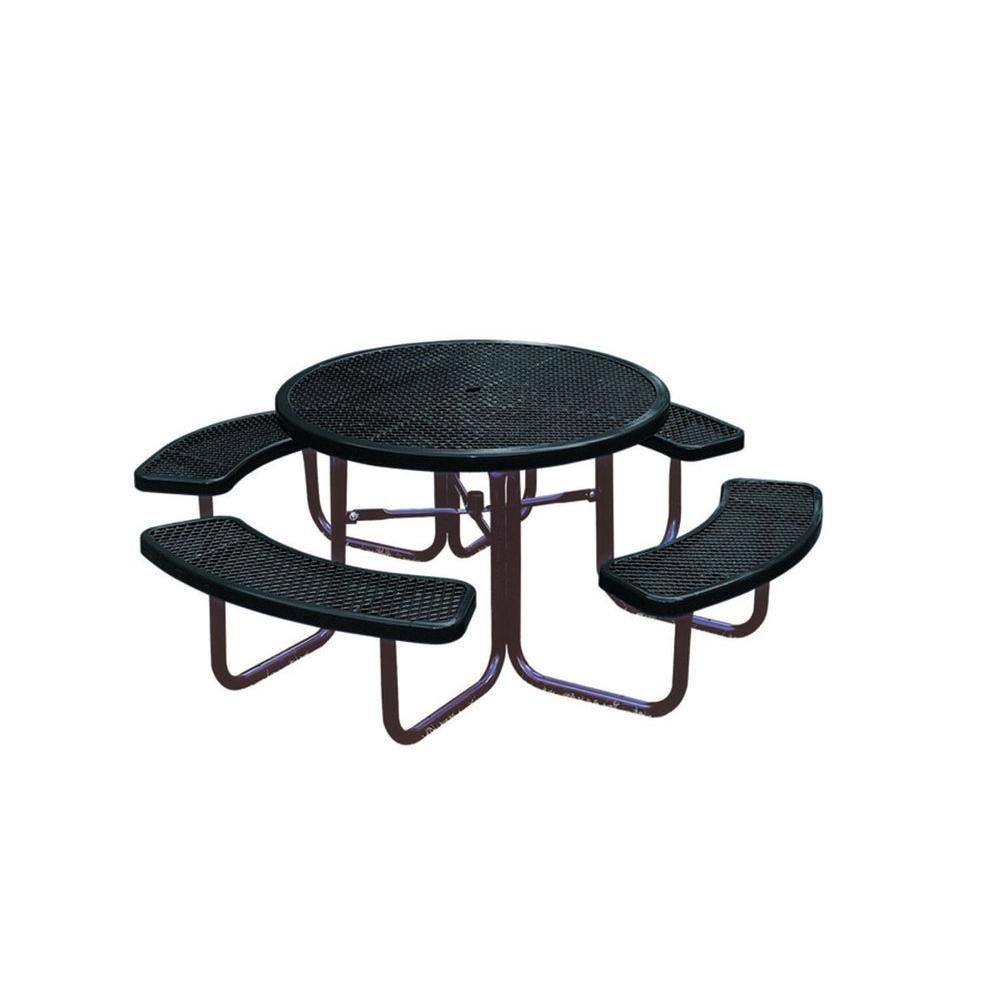 Ultra Play 46 in. Diamond Black Commercial Park Portable Round Table