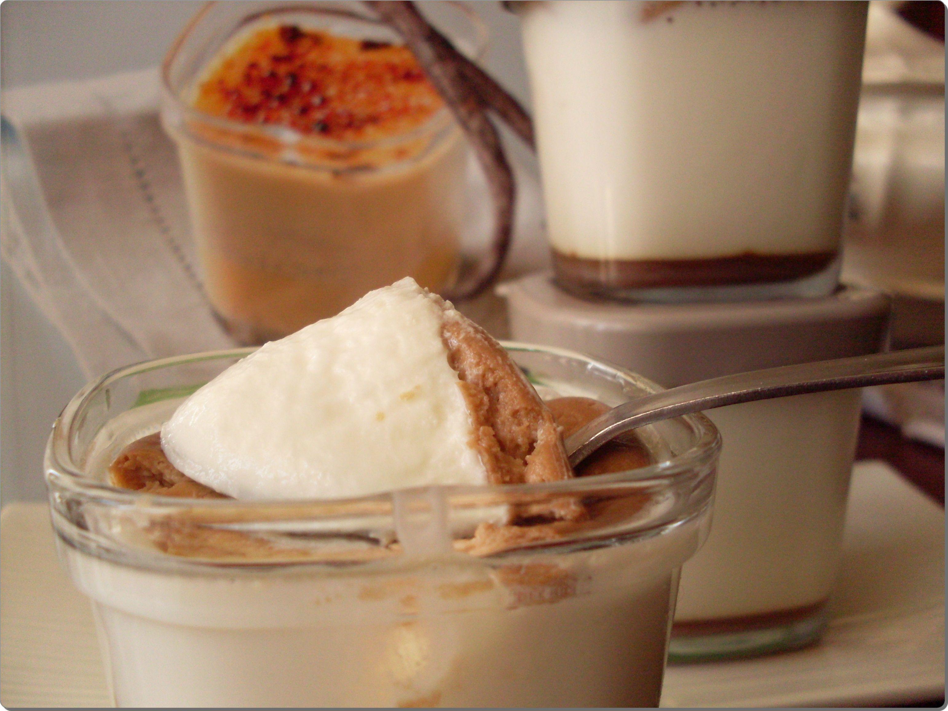 Yogurt de vainilla con toffe y galleta « Un segundo mas tarde