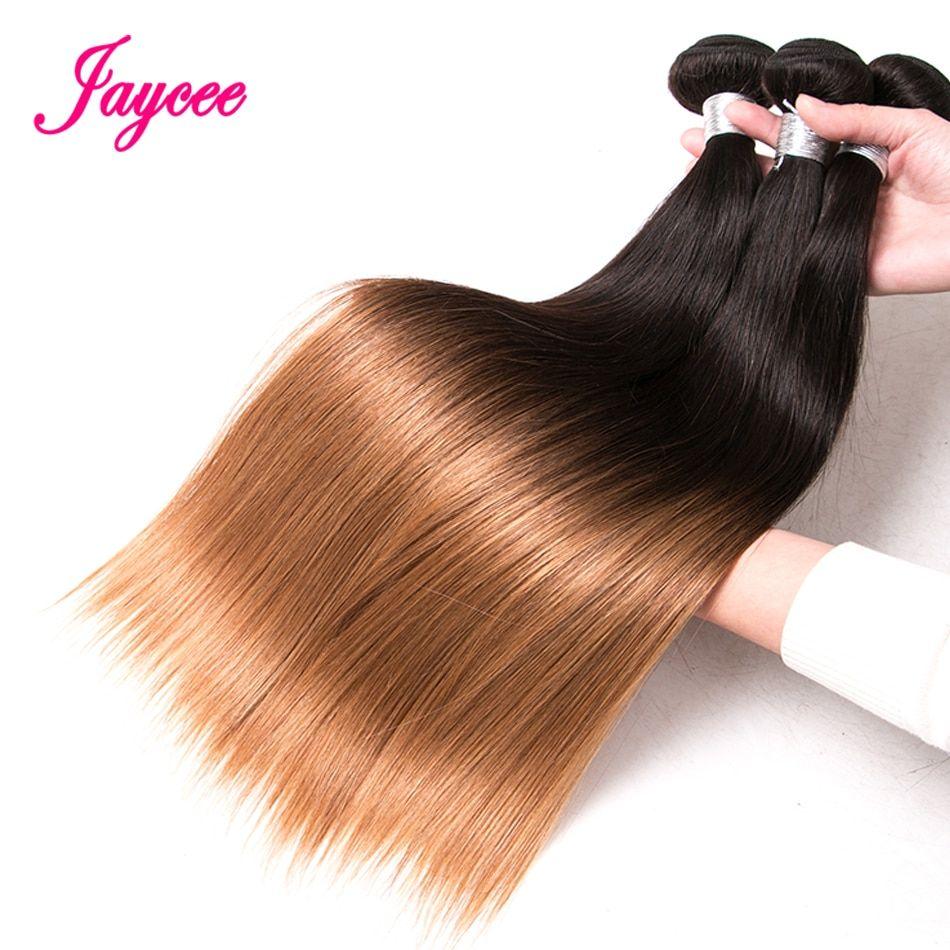 Jaycee Human Hair Ombre Bundles 1b/27 Two Tone Color