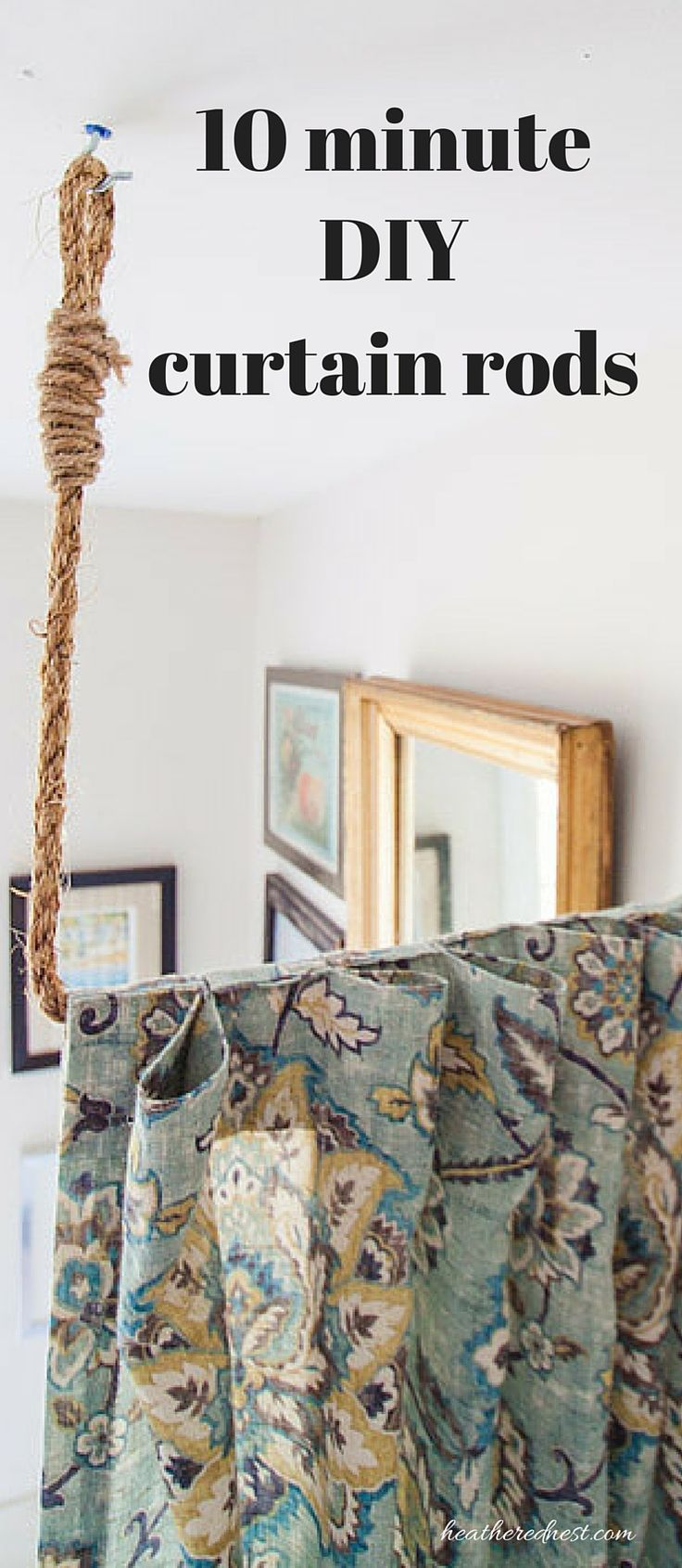 Aka Build A Diy Curtain Rod In 10 Minutes Ceiling Curtain Rodroom Divider