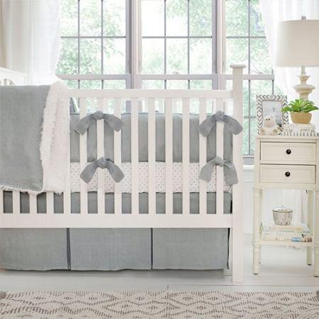 Linen Crib Bedding Gray Baby Neutral Nursery