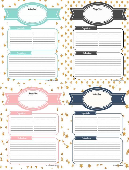 how to make a recipe binder with free diy recipe binder printables