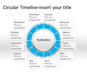 timeline template for powerpoint 2010 - circular timeline powerpoint template is a free circular