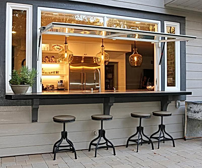 Kitchen Bar Window   Flip Out Windows   United States