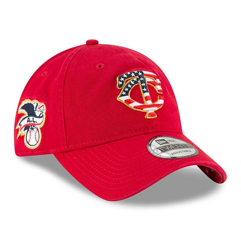 4226b5685e3 Minnesota Twins New Era 2018 Stars   Stripes 4th of July 9TWENTY Adjustable  Hat – Red