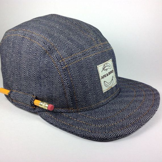 b7022d36194 Handmade 5 panel hat baseball snapback trucker denim made in usa ...