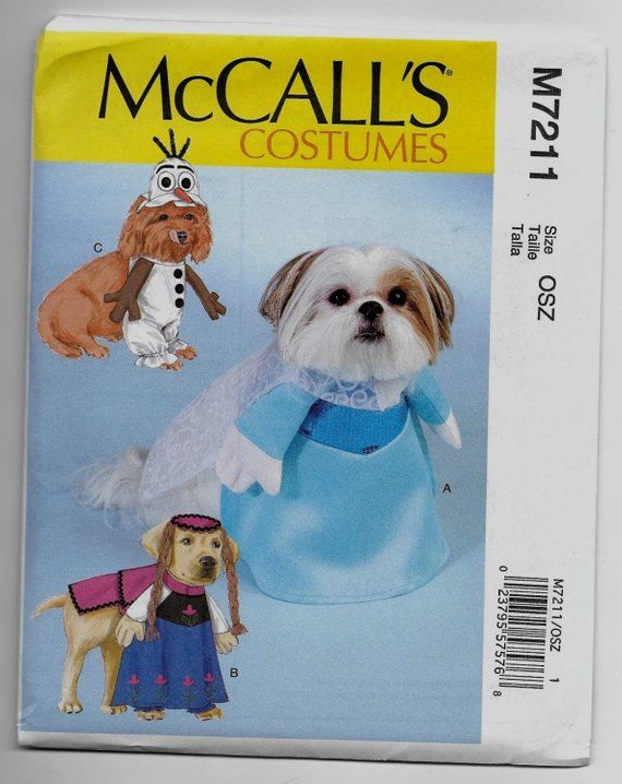 M7211 Mccall S Pet Frozen Costume Sewing Pattern Sizes 6 5 16 In