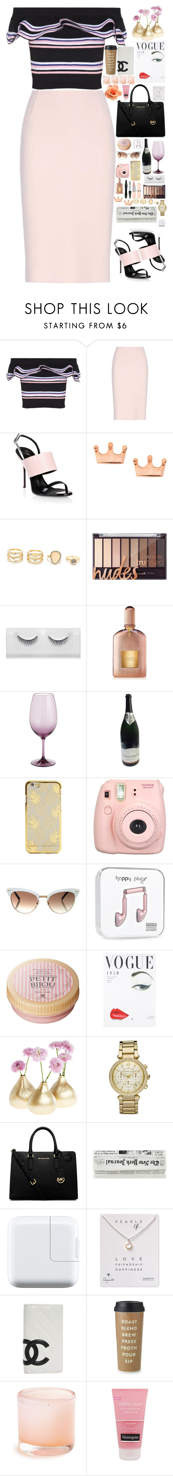 """Untitled #2852"" by nikkimarie-1123 ❤ liked on Polyvore featuring MSGM, Oscar de la Renta, Giuseppe Zanotti, LULUS, Lancôme, Tom Ford, Pier 1 Imports, Fujifilm, Gucci and Michael Kors"