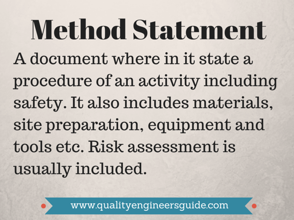 Method Of Statement How To Make A Good Method Statement  Civil Engineering