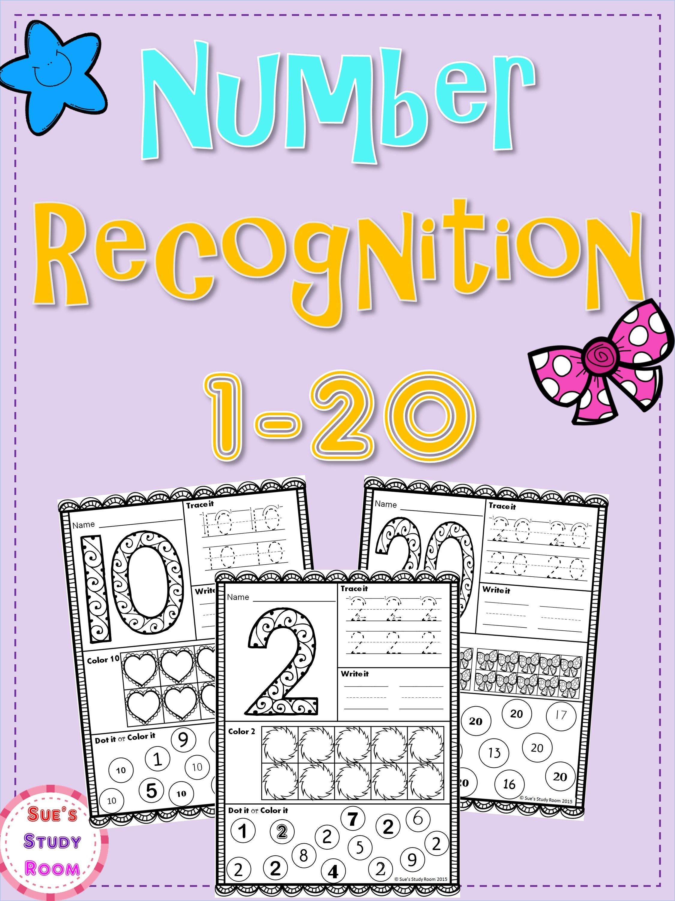 Numbers Number Recognition 1 20