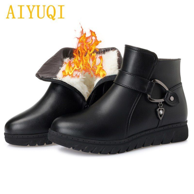 932880dac21db AIYUQI Women winter boots 2018 new genuine leather women snow boots ...