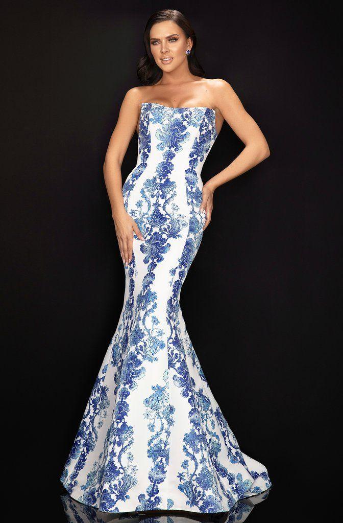 Terani 1811P5813 | Strapless dress formal, Formal dresses