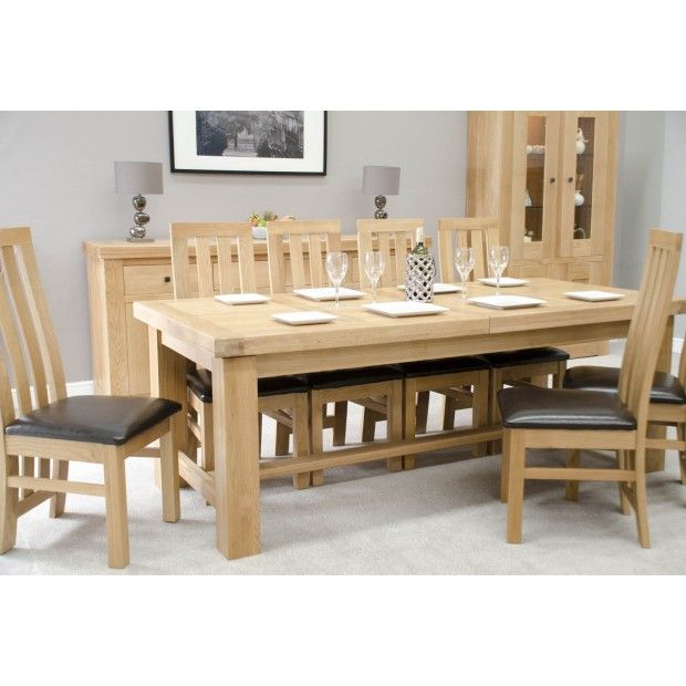 French Bordeaux Oak Large Extending Dining Table Oak Dining
