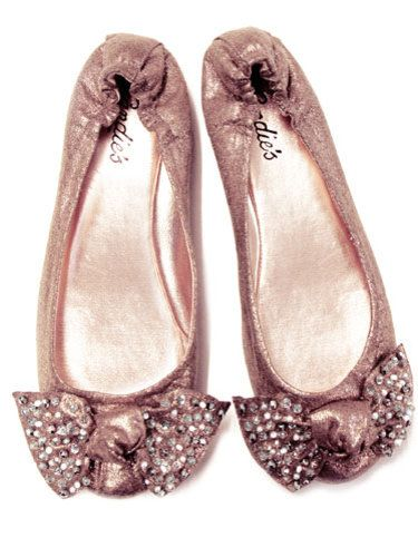 sparkly pink ballet flats :)