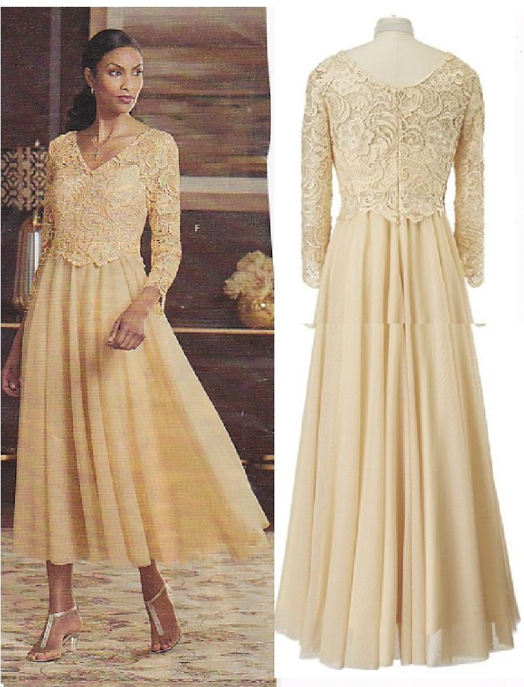 e36a7dd15e8 Details about Stunning Gold Mother of the Bride Dress in sizes 6