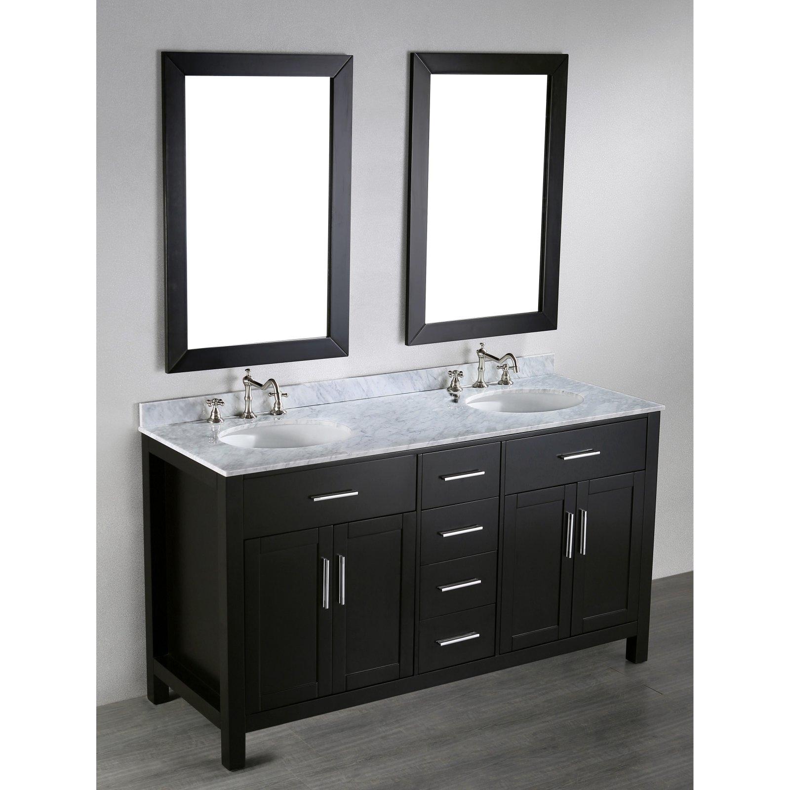Bosconi Sb 252 4 60 In Double Bathroom Vanity Set Bathroom Sink